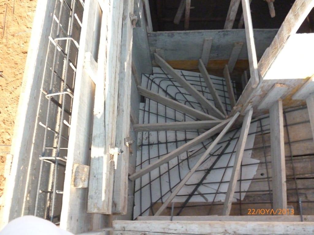 σκυροδέτηση σκάλας